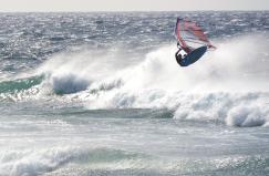 jiho východní směr větru = ježdění na port tack