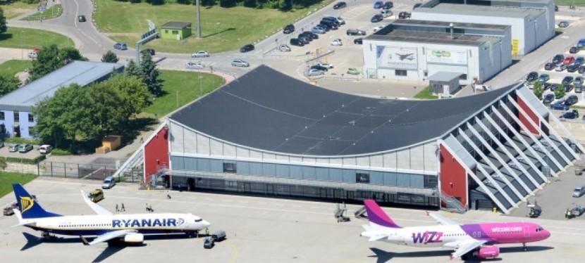 Parkování na letišti vMemmingenu